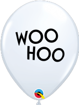 Simply Woo Hoo Balloons (White) - 11 Inch Balloons 25pcs